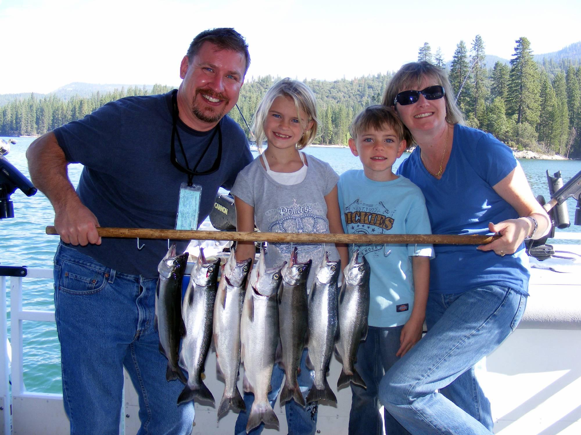 Shaver lake bass lake fishing guide service kokanee for Bass lake ca fishing